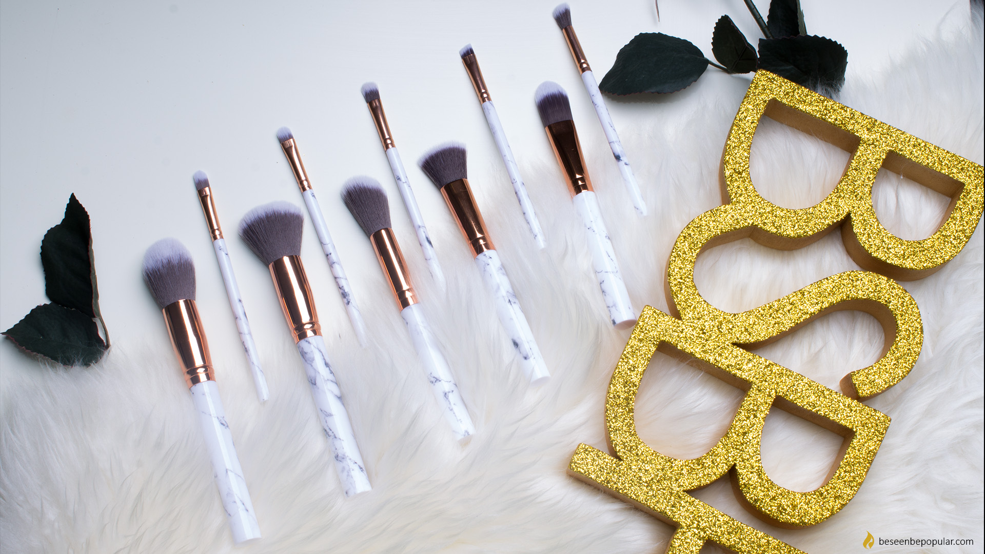 Gamiss marble makeup brushes
