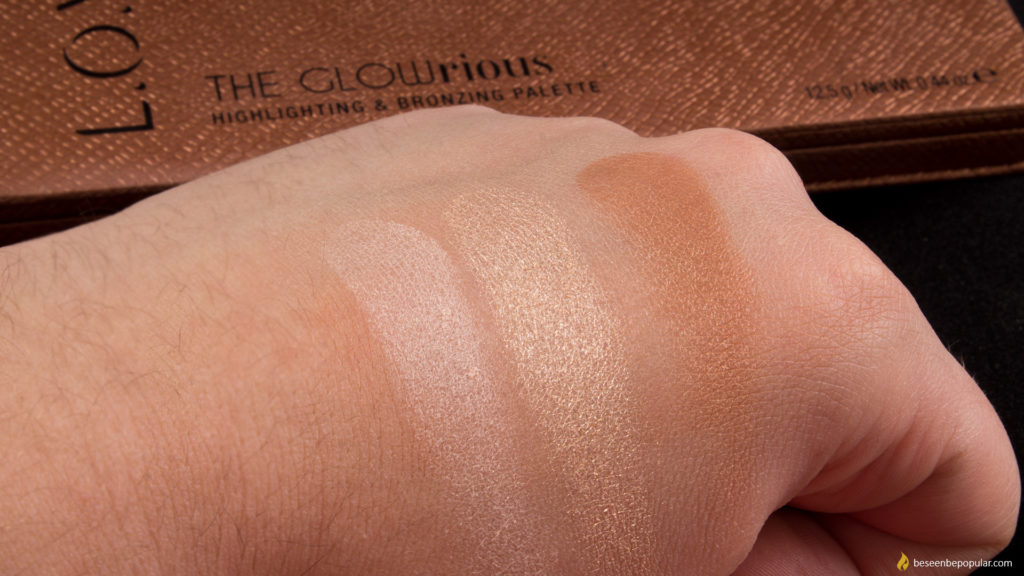 L.O.V The GLOWrious highlighting and bronzing palette