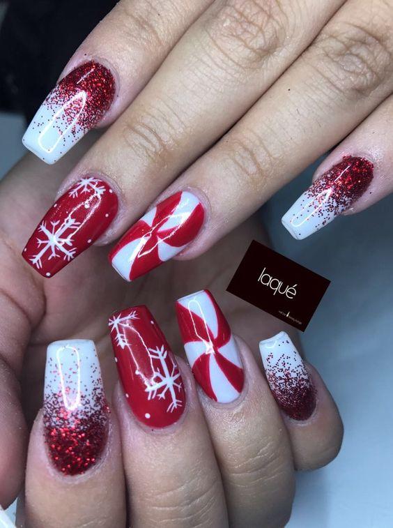 Ideje za božićni nail art