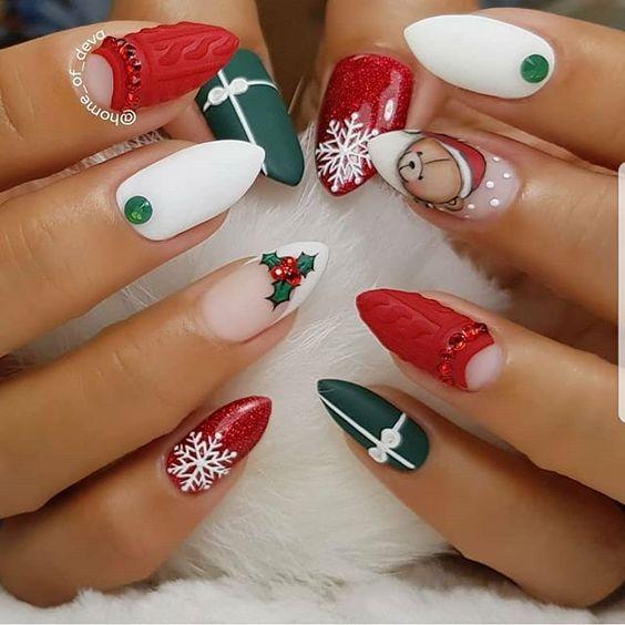 Ideas for Christmas nail art