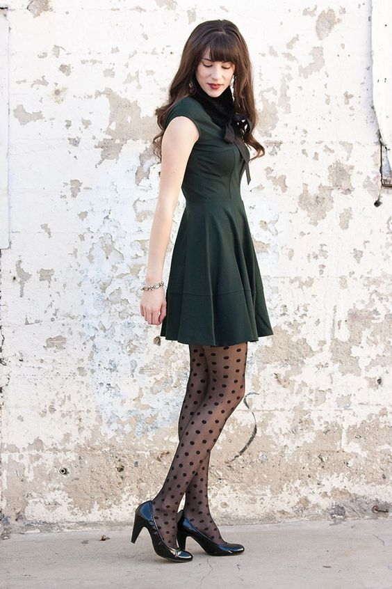 We replace our bare legs with these cool pantyhose
